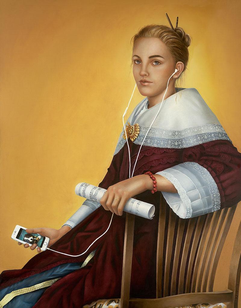 ROSA ELIZABETH, 2017Olieverf op paneel, 90x70 cm