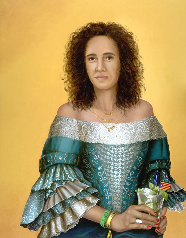 ANNEMARIE VAN DALEN, 2018Olieverf op paneel, 90x70 cm