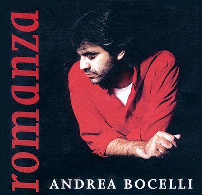 CD-ontwerp voor de CD Romanza van Andrea Bocelli (foto Sarah Wong) met meer dan 20 miljoen verkochte exemplaren over de hele wereld.