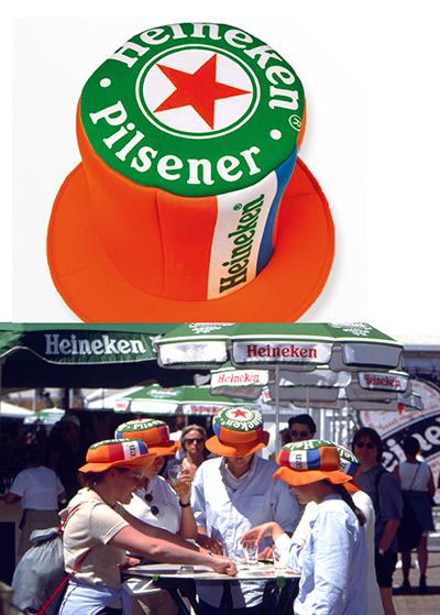 Ontwerp voor de allereerste Heineken hoed.
