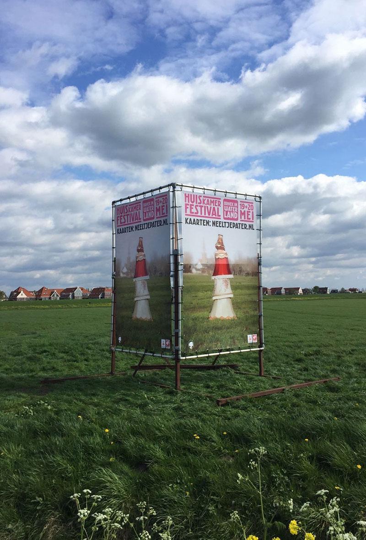 Campagne voor het vierde Huiskamer festival van Theaterstichting Neeltje Pater.