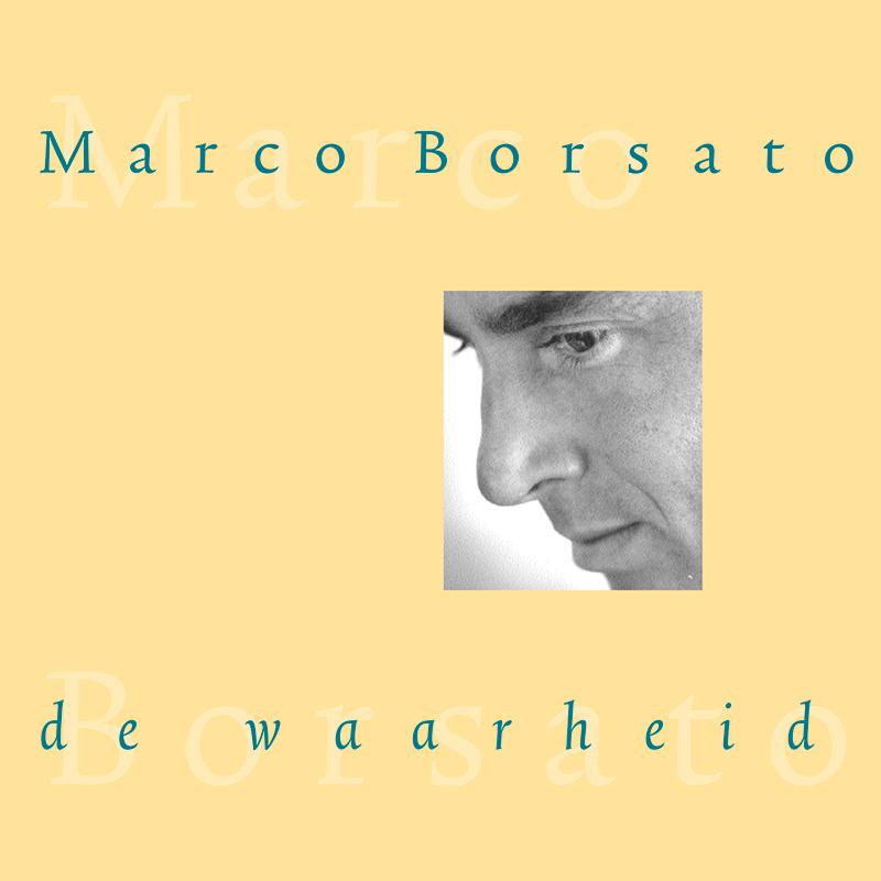 CD-ontwerp en campagne uitingen voor Marco Borsato 'de waarheid' (foto Maarten Corbijn) in meerdere varianten. Daarna volgde 'de bestemming'.