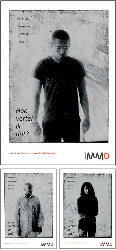 Awareness campagne 'Hoe vertel ik dat' voor Stichting iMMO. Fotografie: Jean Pierre Heijmans.