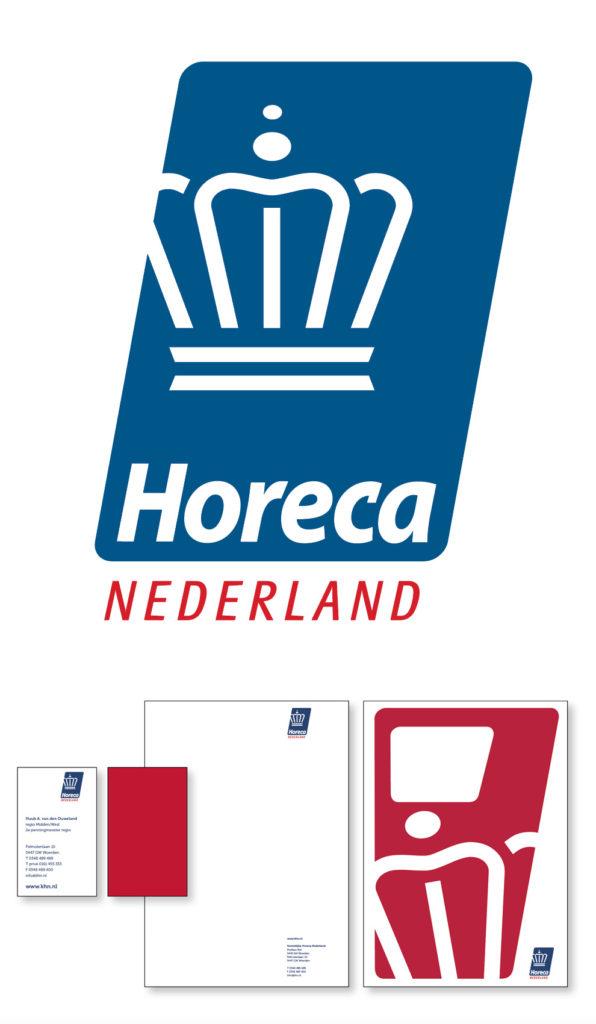 Restyling logo en corporate identity voor Koninklijke Horeca Nederland.