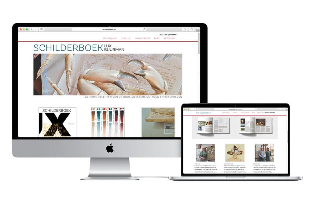 Website design schilderboek.nl ter promotie van Het Schilderboek.