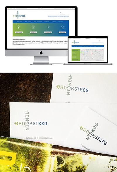 Logo, identiteit en website voor Romein Broeksteeg.